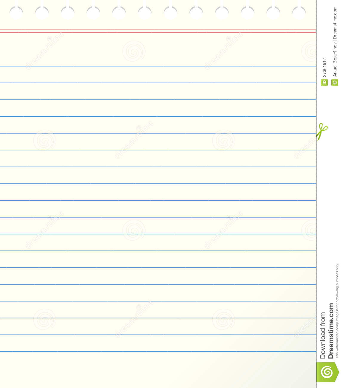 Blank Lined Paper Royalty Free Stock Photography - Image: 27361917
