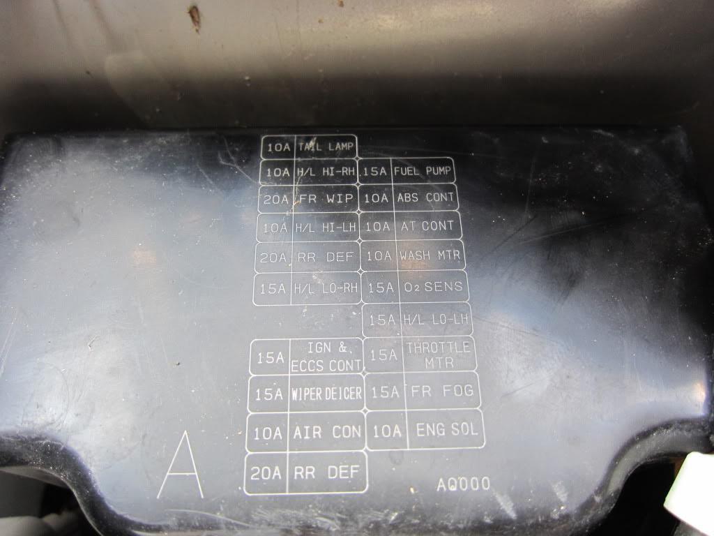 2004 Infiniti G35 Fuse Box Layout