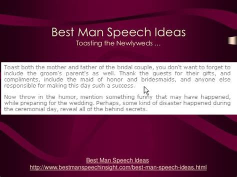 Best Man Speech Ideas