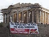Greece protest Acropolis