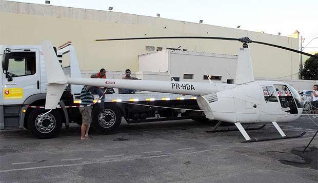A aeronave foi apreendia pela Polícia Civil e o piloto levado para o presídio da cidade (Polícia Civil/Divulgação)