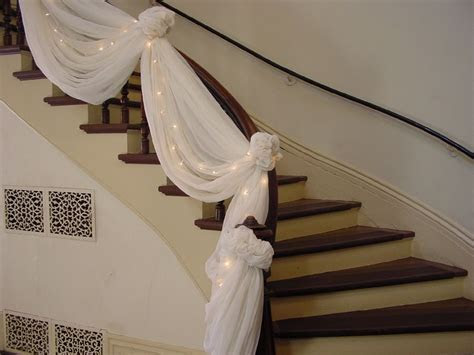 Double staircases decorated for christmas   Washington