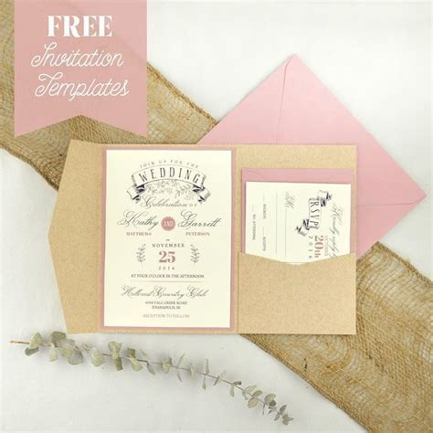 FREE Wedding Invitation Templates   make a great pair with