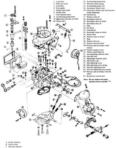 Nissan 1400 carburettor diagram