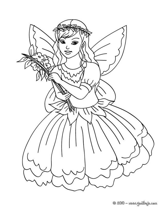 Fairy With Flower Dress Kawaii 01 8sj Fw3 Beautiful 10 Cartoons To Draw For Kids