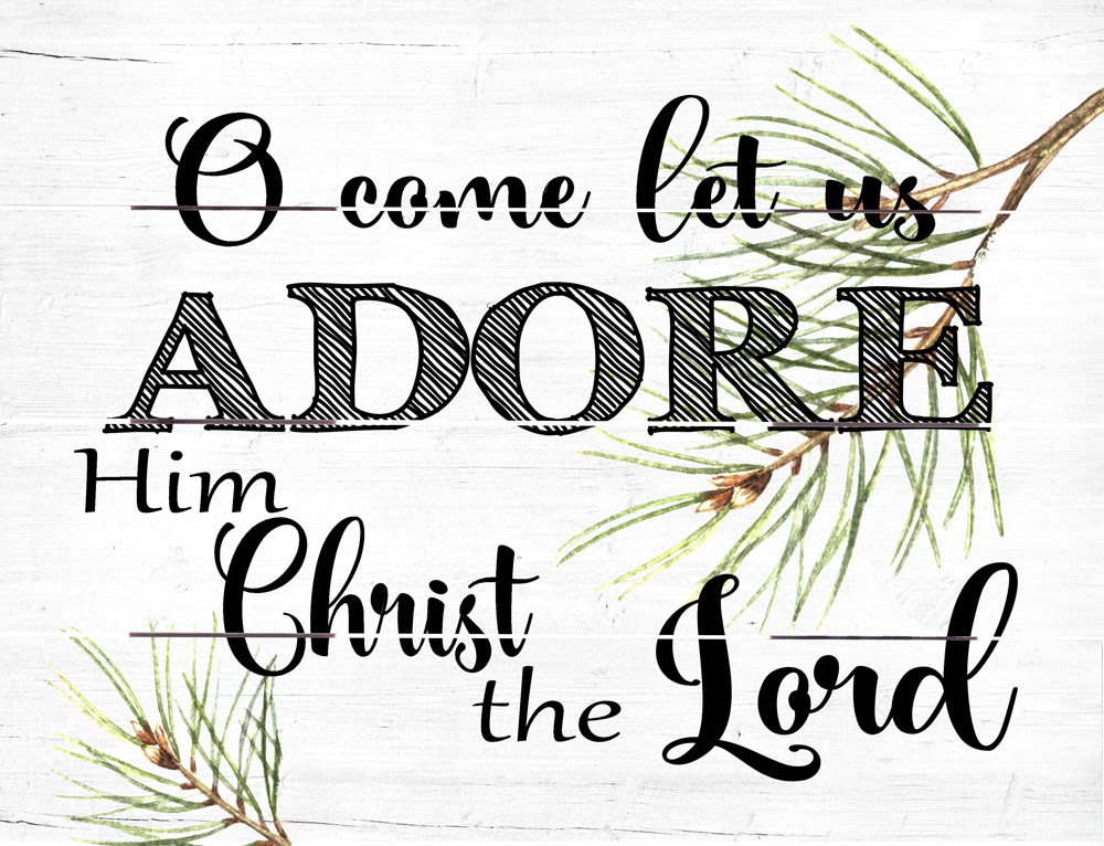 Image result for O come let us adore him
