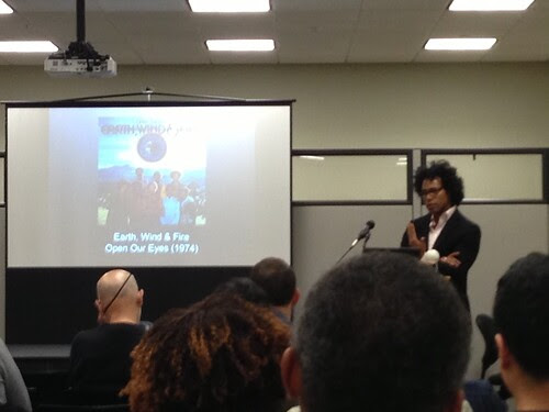 Ivy Wilson, delivering his talk at CUNY Grad Center