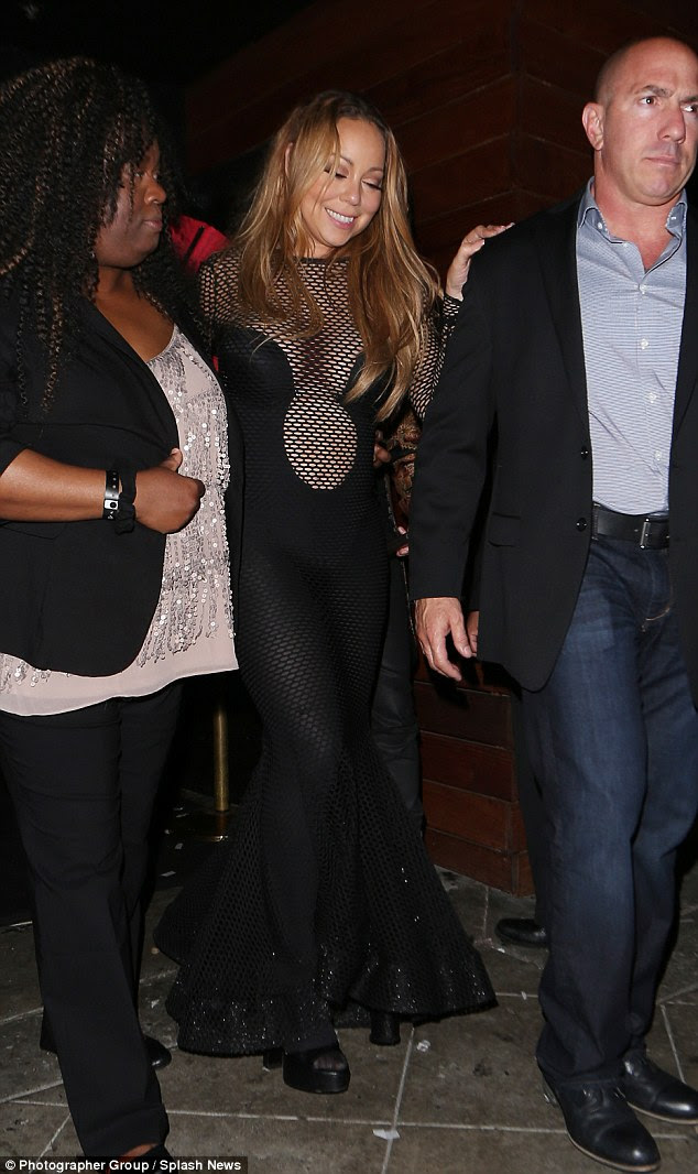 Party time! Mariah Carey looked to have thrown out her inhibitions and seriously let her hair down when she spent the night partying at Los Angeles' 1OAK on Friday night, leaving the city hot-spot looking a little worse for wear