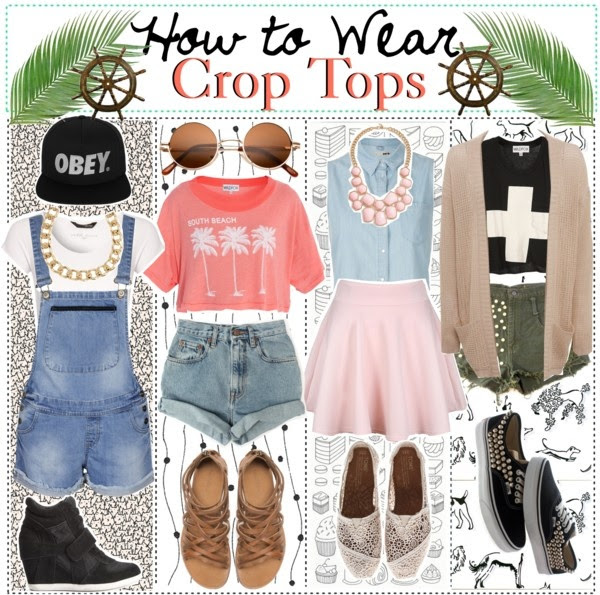 """How to Wear: Crop Tops"" by just-girly-tips ❤ liked on Polyvore"
