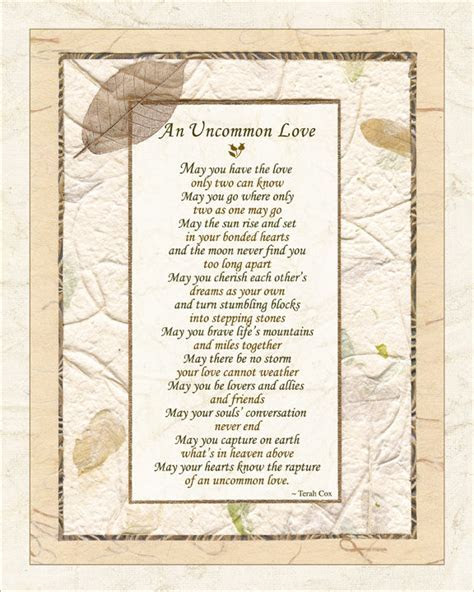 UNCOMMON LOVE   Wedding, Commitment Poem by Terah Cox