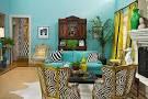 Turquoise vibrant interior design from Jill Sorensen
