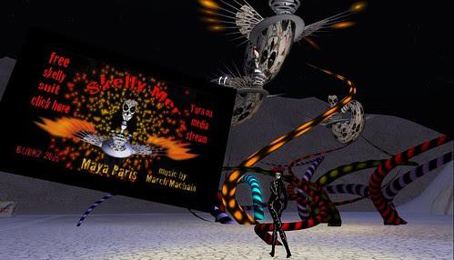 Maya Paris Skelly Mer Exhibit in Burn 2