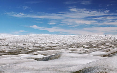 Photo of Greenland ice sheet by Peter West, NSF
