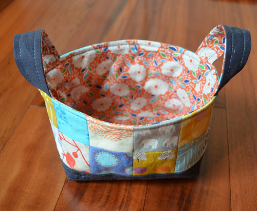 Fabric Basket for Scrappy Swap - I hope you like it partner.