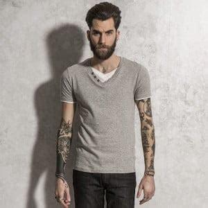 T-shirt drunter offen hemd tragen mit Nr.1 Fashion