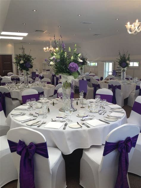 17 Best ideas about Purple Wedding Receptions on Pinterest