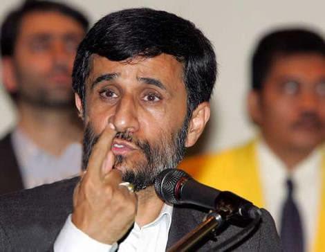 Mahmoud Ahmadinejad trying to find god