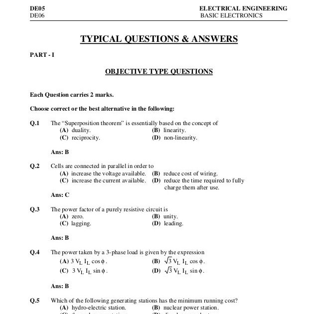 Electrical Wiring Questions And Answers Pdf