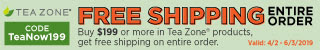 Free Shipping Tea Zone Products