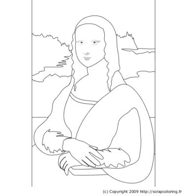 Coloriage Leonard De Vinci