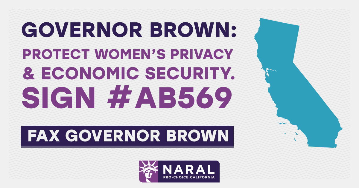 Fax Gov. Brown's office to sign AB 569.