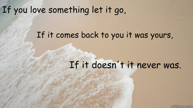 If You Love Something Let It Go If It Comes Back To You It Was