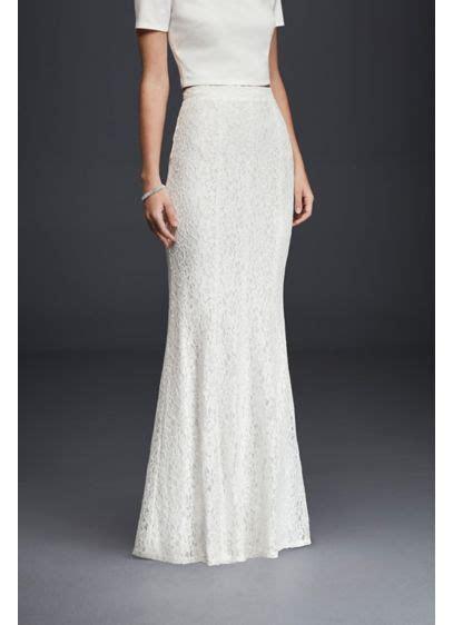 Long Slim Lace Skirt   David's Bridal