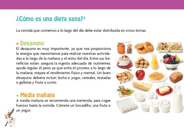 dieta saludable en ingles y español