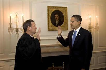 Roberts readministers oath to Obama on 21 Jan 2009