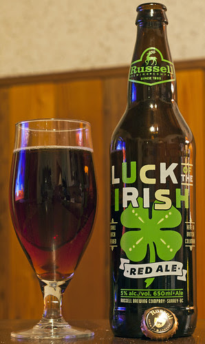 Review: Russell Luck of the Irish Red Ale by Cody La Bière