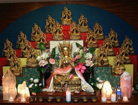 Tara Altar at Kunzang Palyul Choling www.tara.org