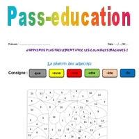 Féminin Des Adjectifs Ce2 Coloriage Magique Pass Education