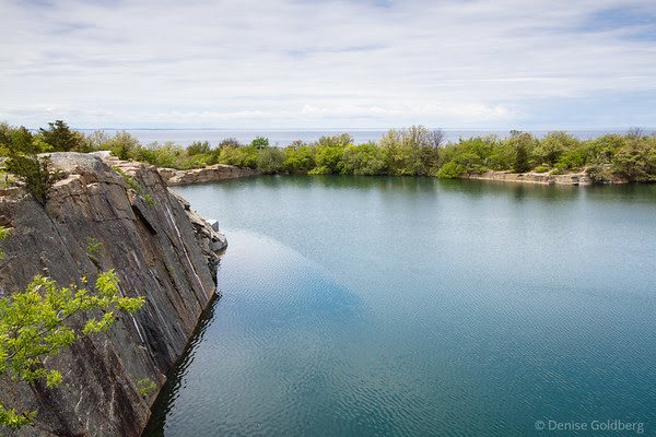 quarry and ocean, a view in Halibut Point State Park