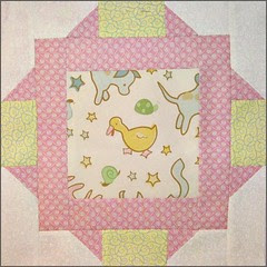 """Block from """"Tickled Pink"""" quilt"""