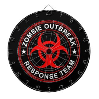 Zombie Outbreak Response Team Dart Board Walking