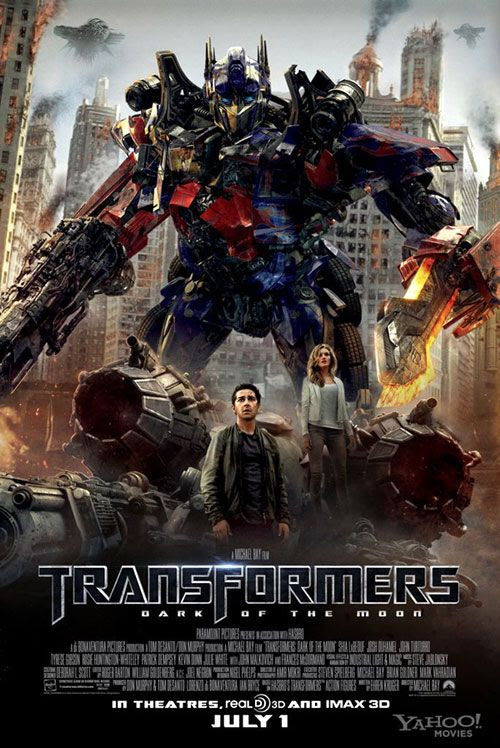 TRANSFORMERS: DARK OF THE MOON theatrical poster.
