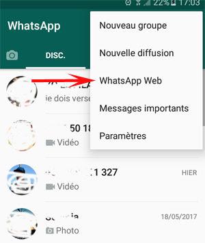 الخطوة 6. حدد WhatsApp Web من القائمة.