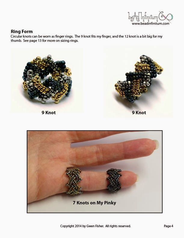 gwenbeads: TUTORIAL- Celtic Knots Part 2: Rings Rosettes and Beaded Beads