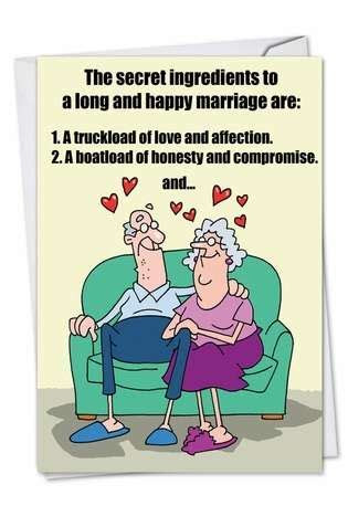 Couple Secrets Funny Anniversary Card ? NobleWorks Cards