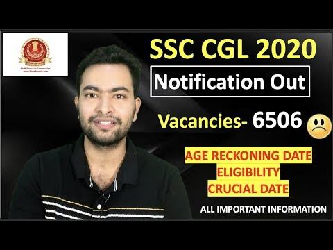 SSC CGL 2021 notifications out 6506 Post