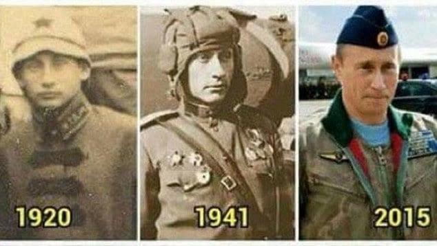 Hình ảnh 2 bức chân dung giống Tổng thống Putin đến ngỡ ngàng số 1