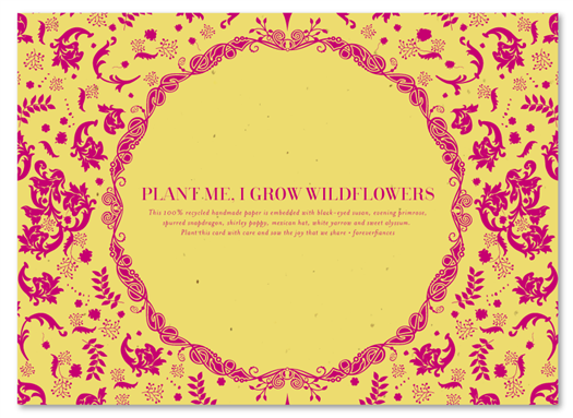 Plantable Vintage Hindu invitations