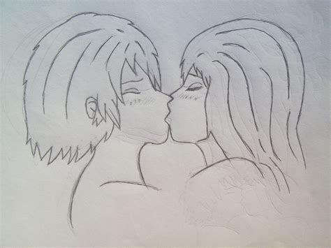 anime girl  boy kiss   wallpaper animewpcom