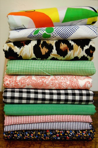 Thrifted Fabric Stash