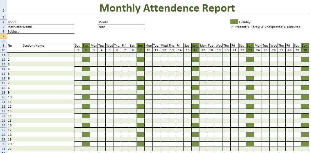 Yli tuhat ideaa: Attendance Sheet Template Pinterestissä