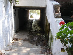 underpass from cave to lagoon hania chania