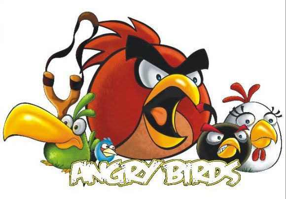 Giant angry birds wall sticker removable boys room by ilovemyhome