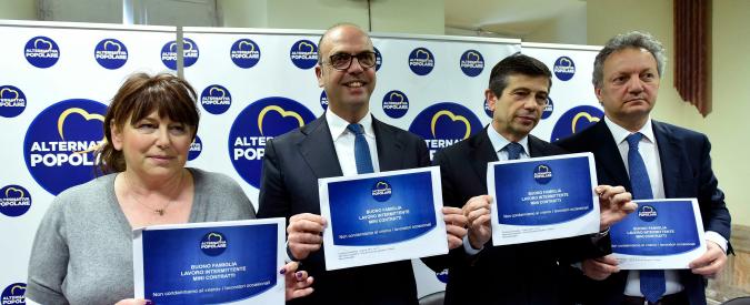 """Caso Torrisi, Alfano: """"Se il Pd vuole il voto, lo dica"""". Dietro la rissa in maggioranza c'è la legge elettorale"""