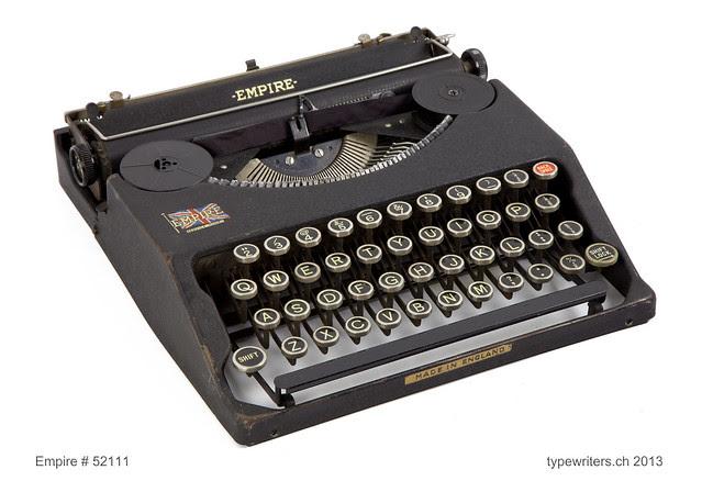 Empire portable typewriter