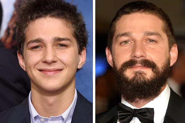 Shia LaBeouf em 2003 e em 2015 (Foto: Getty Images)